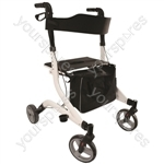 Aidapt Deluxe Ultra Lightweight Folding 4 Wheeled Rollator
