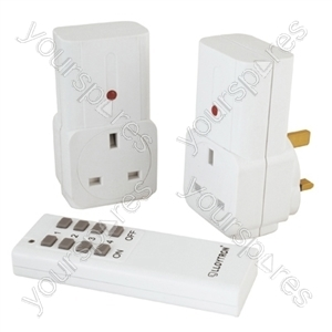2Pcs Remote Controlled Sockets - White