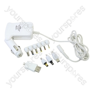 3000mA Regulated DC/DC Multi-Voltage Adaptor with USB