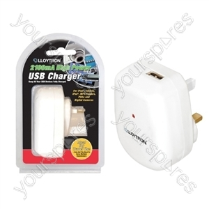 2100mA ''High Power'' USB Charger - White