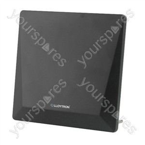 Active Indoor Panel TV Antenna - 50dB - 4G filter - Matt Black