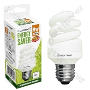Mini Spiral CFL - 9w - E27 - 240V - 5600K (Daylight)