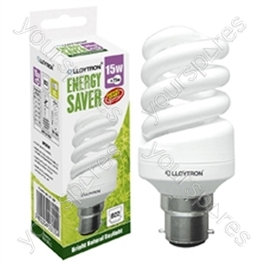 Mini Spiral CFL - 15w - B22 - 240V - 5600K (Daylight)