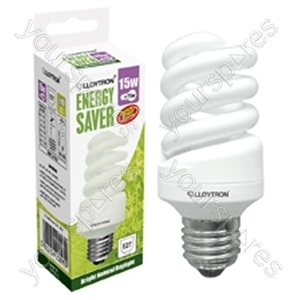 Mini Spiral CFL - 15w - E27 - 240V - 5600K (Daylight)