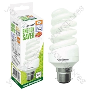 Mini Spiral CFL - 20w - B22 - 240V - 5600K (Daylight)