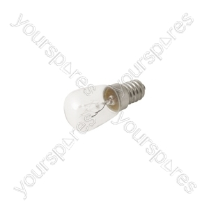 Fridge Bulb E14 15w 240v (Refrigerator Light) - 1pk