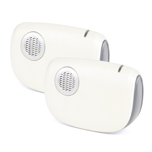 32 Melody B/O Wireless Door Chime with MiPs - White (Twin Receivers)
