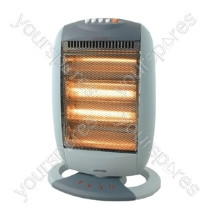 STAYWARM 1600w 4 Bar Halogen Heater - Grey