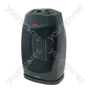 STAYWARM 1500w Oscillating PTC Ceramic Heater - Black