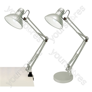 45w 'Modus' Swing-Arm Hobby Desk Lamp - Silver