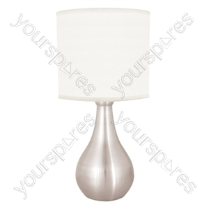 14'' 35w ''Eclipse'' Touch Table Lamp - Brushed Chrome