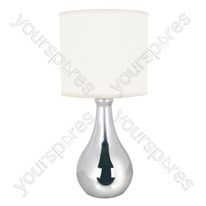 14'' 35w ''Eclipse'' Touch Table Lamp - Polished Chrome