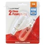 Appliance Bulb E14 40w 240v (Cooker Hood Light) - 2pk