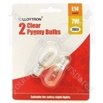 Pygmy Bulb E14 7w 240v (Night Light) - 2pk