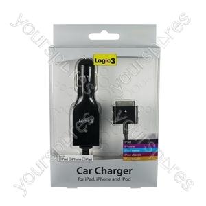 iPad/iphone/ipod Car Charger - Black