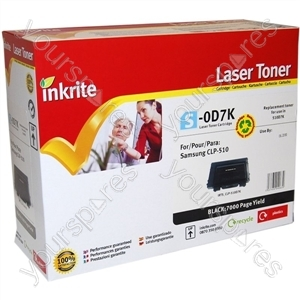 Inkrite Laser Toner Cartridge compatible with Samsung CLP 510 Black