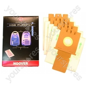 Hoover H36 Vacuum Dust Bags (Pack of 5)