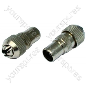 Male Coax Plugs Brass Plated Pack Of 2