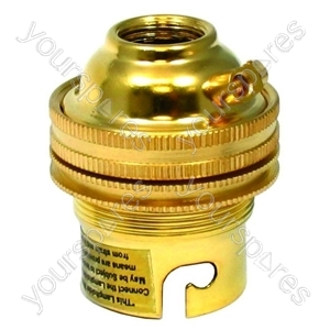 Lampholder B22 Brass Shade Ring Earth T2