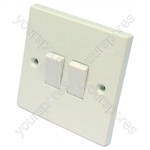 Light Switch 2 Gang 2 Way 6 Amp
