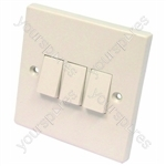 Light Switch 3 Gang 2 Way 6 Amp
