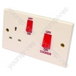 Oven Socket & Switch + Outlet 45 Amp