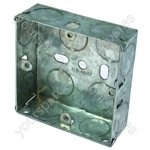 Metal Back Box 1 Gang 25mm