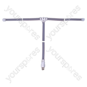 FM Ribbon Aerial with Coaxial Plug and 1.8m Lead - Connector Type Coax Socket