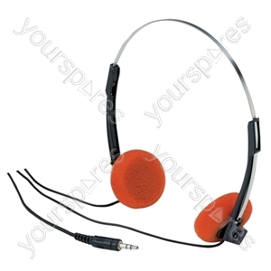 Lightweight Stereo Headphones With Orange Pads