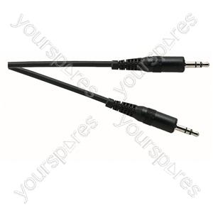 Standard 3.5 mm Stereo Jack Plug to 3.5 mm Stereo Jack Plug Lead - Lead Length (m) 5