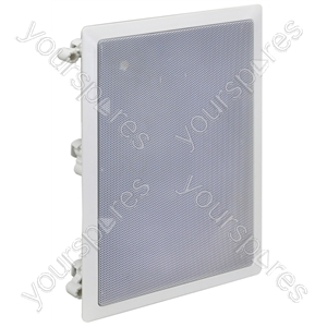 """e-audio White In-Wall Speaker With 8"""" Driver and Tweeter"""