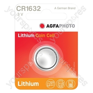 AGFA Lithium Button Cells Blister of 1 - Type CR1632