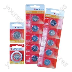 AGFA Lithium Button Cells Blister of 5 - Type CR2032