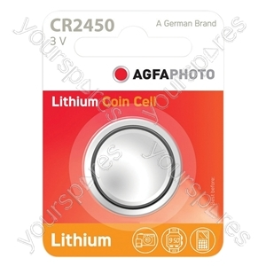 AGFA Lithium Button Cells Blister of 1 - Type CR2450