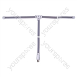 FM Ribbon Aerial with Coaxial Plug and 1.8m Lead - Connector Type Coax Plug