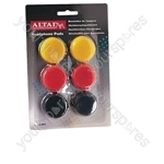 Coloured Replacement Earphone Pads x 3 Pairs - Pad Size 40mm