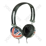Flag Design Stereo Headphone - Flag Union Jack