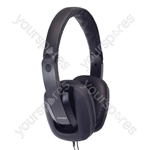 Digital Stereo Fashion Headphones With Luxury Padded Headband - Colour Black