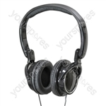Digital Folding Stereo Headphones with Extended Bass Response   - Colour Black