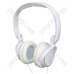 Digital Folding Stereo Headphones with Extended Bass Response   - Colour White