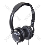 Combo Pack of Digital Folding Stereo Headphones with Extended Bass and Digital Stereo Earphones