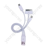 USB 2.0 Multi Transfer and Charging Cable including iPod/iPhone 5 Lightning Connector