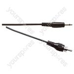 Standard 3.5 mm Mono Jack Plug to Phono Plug Lead