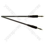 Standard 6.35 mm Stereo Jack Plug to 6.35 mm Stereo Jack Plug Screened Lead - Lead Length (m) 2