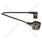 3 Pin UK to Right Angled IEC Mains Lead 5A - Colour Black