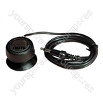 Black Telephone Pickup Coil with Sensitive Microphone