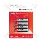 AGFA PHOTO Zinc Chloride Battery - Type AAA