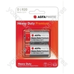 AGFA PHOTO Zinc Chloride Battery - Type D