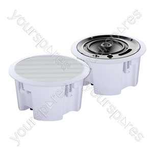 Eagle 100V Line / 8ohm Round 2 way Ceiling Speaker With Moisture Resistant Cone - Size 6.5 inch