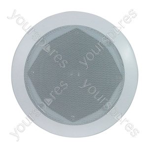 e-audio White 2-Way High Powered Low Profile Ceiling Speakers With Internal Directable Tweeter - Size 5.25 inch